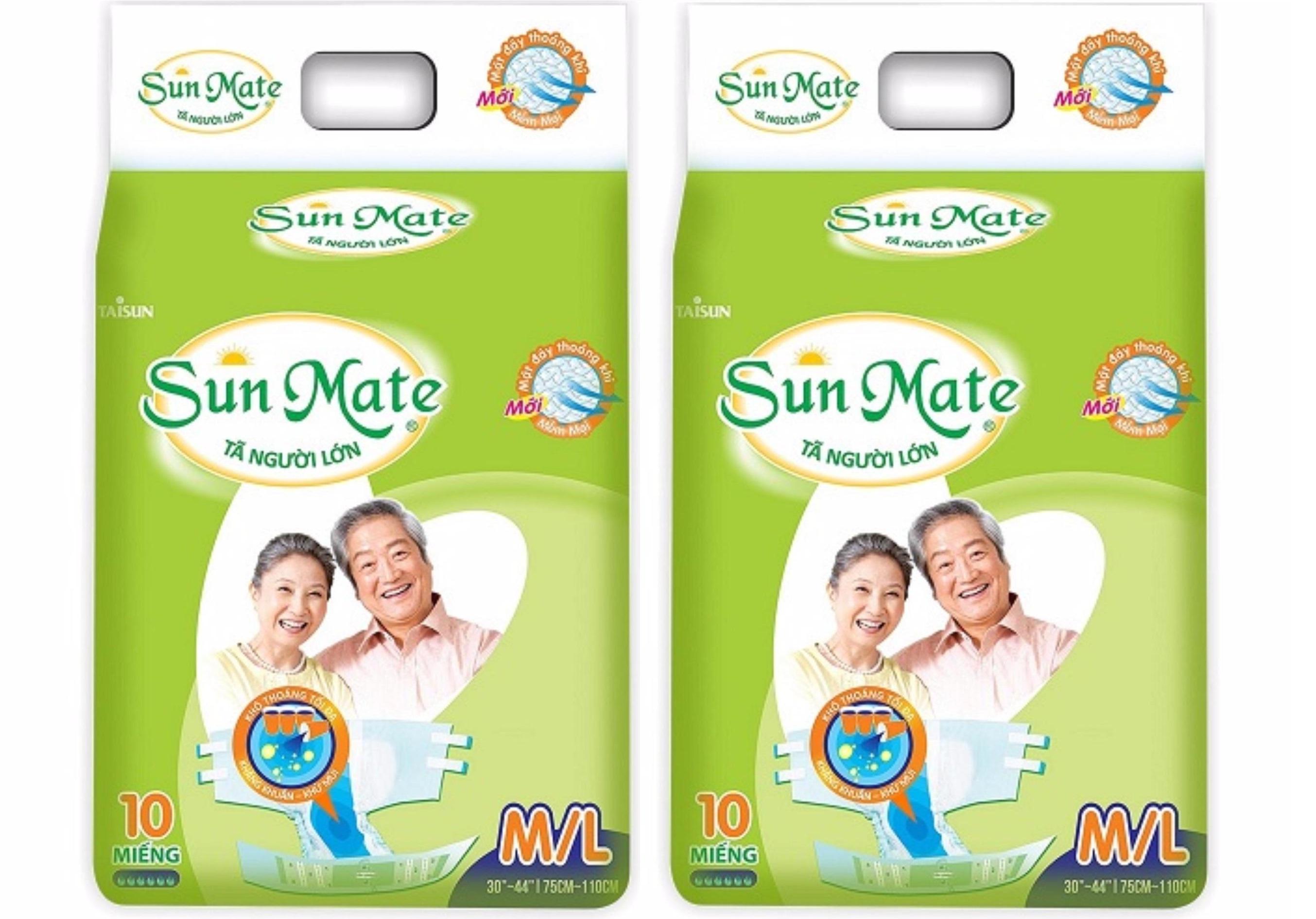 Combo 2 Gói Tã người lớn Sunmate size M / L10 ( vòng bụng 75-110cm)