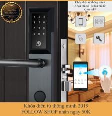 [APP iOS/Android tiếng Việt] Khóa cửa điện tử thông minh khóa chống trộm dùng APP- Khóa thẻ từ, Khóa mã số Khóa cơ- Kết nối Bluetooth – Bảo hành 12 tháng – Hỗ trợ lắp đặt và cài đặt – Mở bên phải
