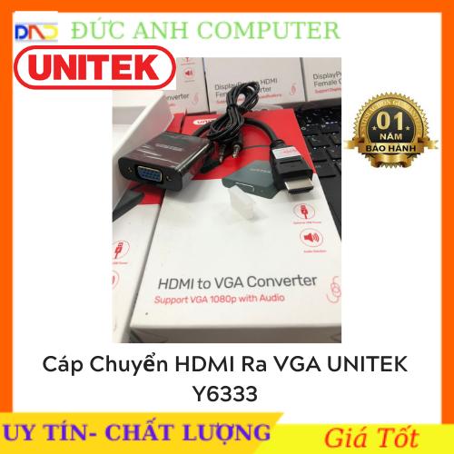 Dây chuyển đổi HDMI to Vga +Audio chính hãng Unitek Y 6333 bảo hành 12 tháng 1 đổi 1