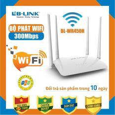 Bộ phát sóng wifi 4 râu cực mạnh xuyên tường LB-LINK BL-WR450H – Bảo Hành 24 tháng – WR-450H