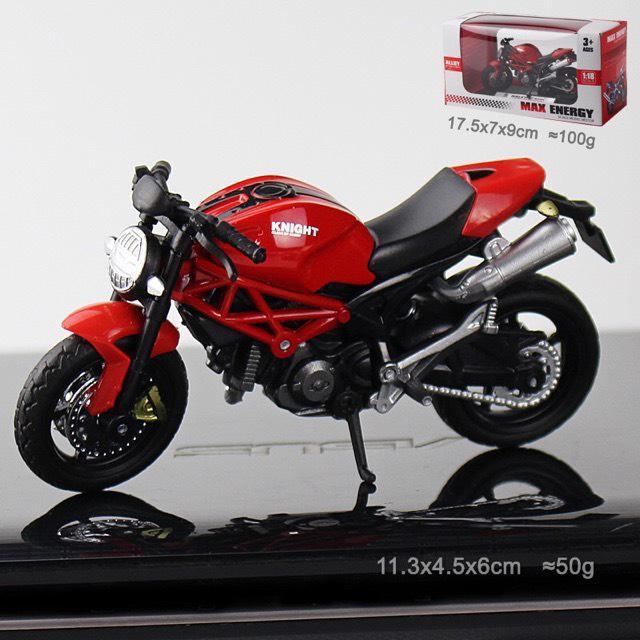Siêu Xe Mô Hình Ducati Monster Tỉ Lệ 1:18, Nước Sơn Bóng Bền Có Độ Nét Cao, Thiết Kế Tỉ...
