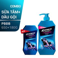 Combo Sữa tắm X-men Phiên Bản Đặc Biệt 650g + Dầu gội X-men Phiên Bản Đặc Biệt 180g
