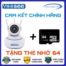 [ LƯU TRỮ 64GB ] Camera YOOSEE WIFI IP XOAY 360 ĐỘ 3 RÂU FULL HD 720p – TẶNG THẺ 64