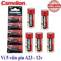 Vỉ 5 viên Pin A23 12V Camelion Alkaline – dùng cho chuông cửa, cửa quấn, điều kiển từ xa…
