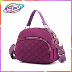 Túi đeo hông cao cấp nữ Hình bầu chỉ xéo đa năng SYT66 Shalla