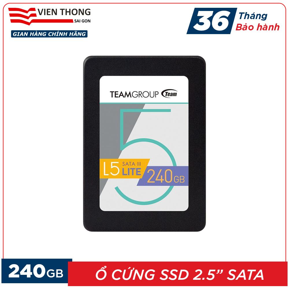 [Nhập mã EXCLUSIVE giảm 10%] Ổ cứng SSD 120GB/240GB L5 LITE 2.5 inch Team Group Sata III (Bảo hành 3 năm đổi mới) – Hãng phân phối chính thức (PT)