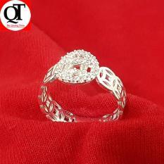 Nhẫn nữ Bạc Quang Thản, nhẫn nữ kim tiền mặt chữ vạn gắn đá cobic chất liệu bạc thật không xi mạ có thể chỉnh size tay yêu cầu, thích hợp đeo tại các buối dạ tiệc, sinh nhật, làm quà tặng – QTNU38