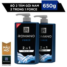 Combo 2 Tắm Gội 2 trong 1 Romano Force 650g