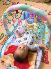 [Có video] Thảm COn Hươu có đàn piano và khung treo đồ chơi lục lạc giúp bé phát triển các giác quan, bé vừa nằm vừa chơi giúp ba mẹ rảnh tay