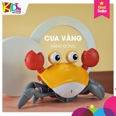 Đồ chơi cho bé đồ chơi con cua cảm biến tự động tránh vật cản sạc pin có phát nhạc và đèn led DCVD04-CUACB