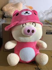 Heo Huggies đội nón hồng
