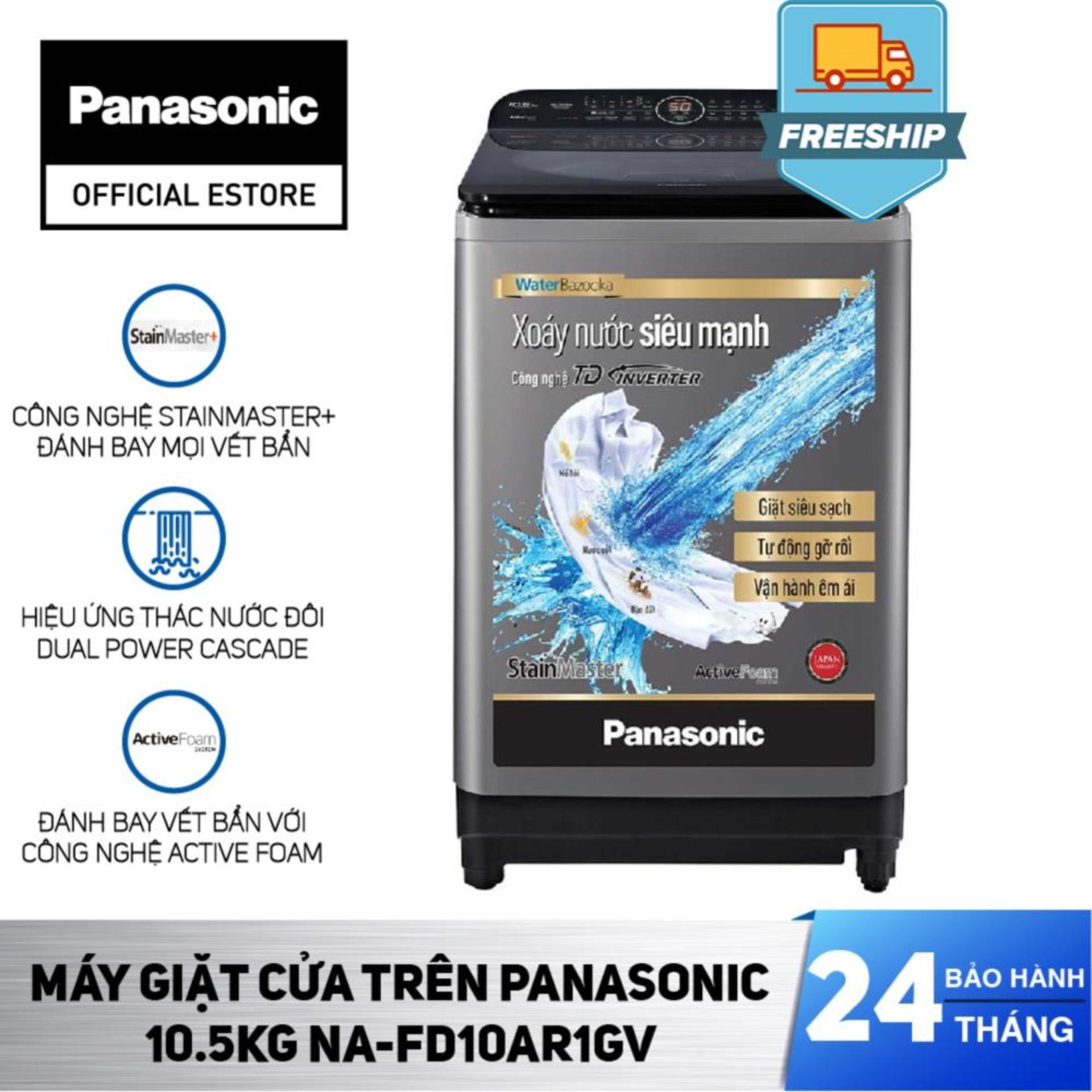[Chỉ Giao Tại HCM] - Máy Giặt Cửa Trên Panasonic 10.5KG NA-FD10AR1GV - Bảo Hành 2 Năm - Hàng Chính...