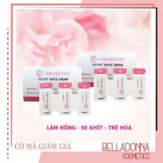 [Hàng Auth] Dung dịch làm hồng và se khít vùng kín Amusecos Secret White Cream 1mlx3