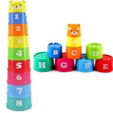 Đô chơi cốc xếp chồng 9 tầng nhựa đẹp