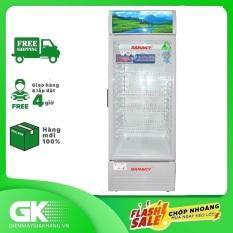 Tủ mát Sanaky 340 lít VH-408KL, cửa tủ có chất liệu công nghệ kính Low-E, xuất xứ tại Việt Nam, bảo hành 24 tháng