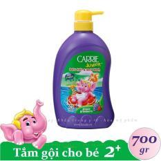 CARRIE JUNIOR-Tắm gội toàn thân cho bé hương Grapeberry ( Nho + Dâu ) 700 gr