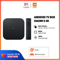 [SIÊU SALE 12-14.12] Android TV Box Xiaomi S 4K (3840 x 2160) l CPU 4 nhân, RAM 2GB, Bộ nhớ 8GB l Kết nối Wifi, Bluetooth 4.2, HDMI l HÀNG CHÍNH HÃNG