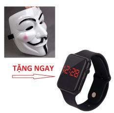 Mặt Nạ Hacker (hóa Trang) tặng một đông hồ led thời trang