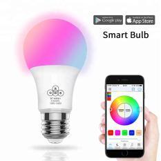 Bóng đèn đổi màu RGBW điều khiển qua bluetooth đuôi E27 – app Haodeng
