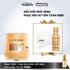 Dầu hấp nhũ vàng phục hồi hư tổn toàn diện L'Oréal Professionnel Serie Expert Absolut Repair Gold 250ml