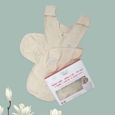 Nhộng chũn quấn ủ kiêm túi ngủ và quấn ủ tay 100% Cotton cho bé sơ sinh Tinylove luyện bé ngủ easy