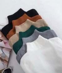 Áo cổ lọ tay dài thun gân ( 48kg) Áo thun nữ – Áo kiểu nữ – MIN Boutiques