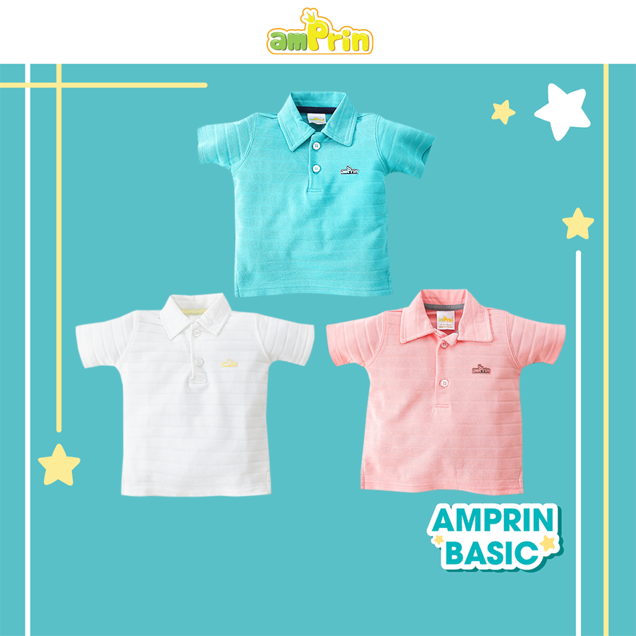 Áo thun Polo coton bé trai bé gái AmPrin AT294 – AT296 – AT297