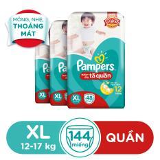 Bộ 3 Pampers Tã quần Jumpo XL48