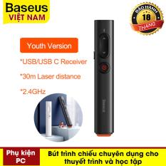 Bút Laser tiện dụng Baseus dành cho trình chiếu Powerpoint Điều Khiển Từ Xa 2.4GHz USB & USB C – Phân phối bởi Baseus Việt Nam