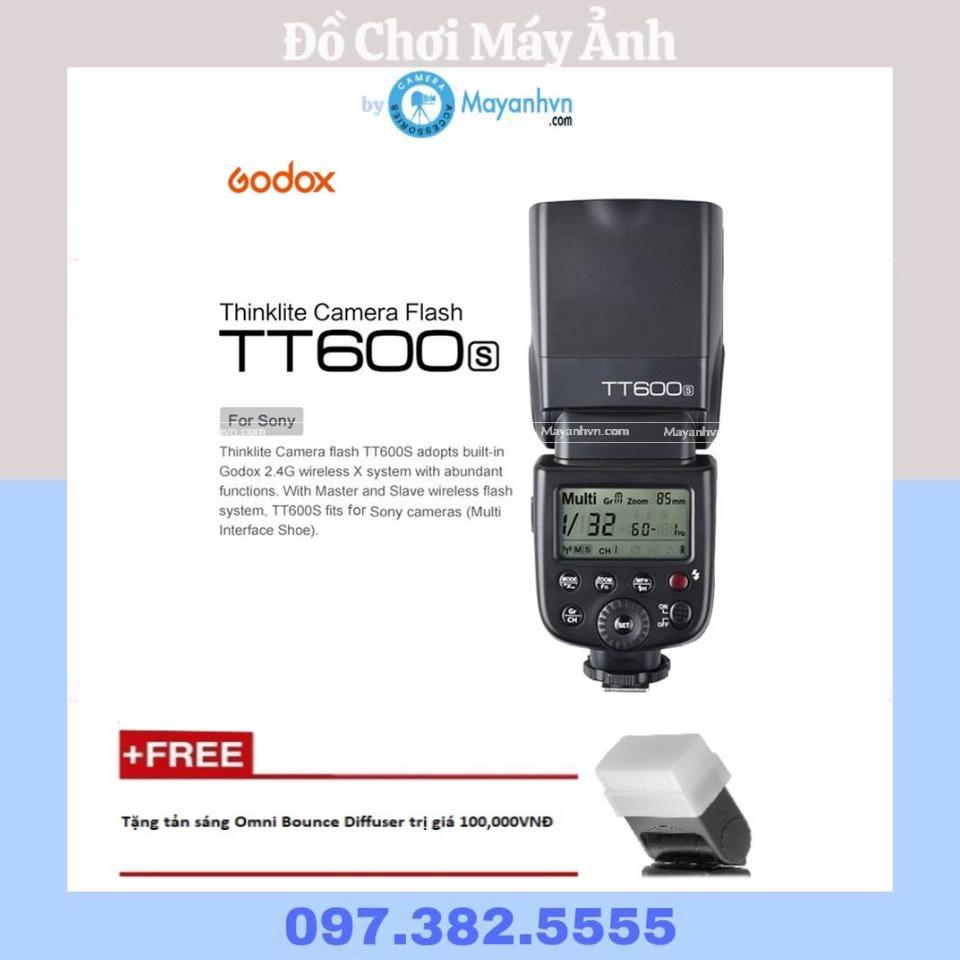 Flash Godox TT600S for Sony- Tặng kèm tản sáng omni bouce