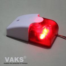 Còi Hú Đèn Chớp Báo Động 103 có 2 dòng điện áp riêng biệt 220V AC hoặc 12V DC