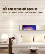 Combo 10 tấm xốp dán tường 3D giả gạch chịu lực siêu dính chống nước chống ẩm mốc 70X77CM Cách âm cách nhiệt tốt