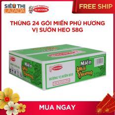Thùng 24 gói miến Phú Hương vị sườn heo 58g