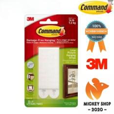 [SIÊU DÍNH] Miếng dán treo tranh trắng 7.2kg vỉ 8 miếng Command 3M 17206