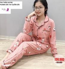 [Bộ Ngủ Pijama Tay Dài]-❣FREESHIP-69K❣Có Thể Mặc Sau Sinh.[Hàng Thiết Kế Có Size].