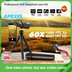 Ống kính lens Apexel tele 60xchụp ảnh siêu xa siêu zoom dành cho điện thoại, cam kết hàng đúng mô tả, chất lượng đảm bảo, an toàn cho người sử dụng