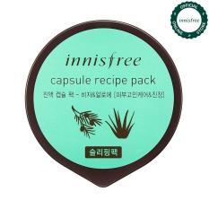 Mặt nạ ngủ làm mịn da dành cho da mụn từ Bija & nha đam Innisfree Capsule Recipe Pack – Bija & Aloe 10ml
