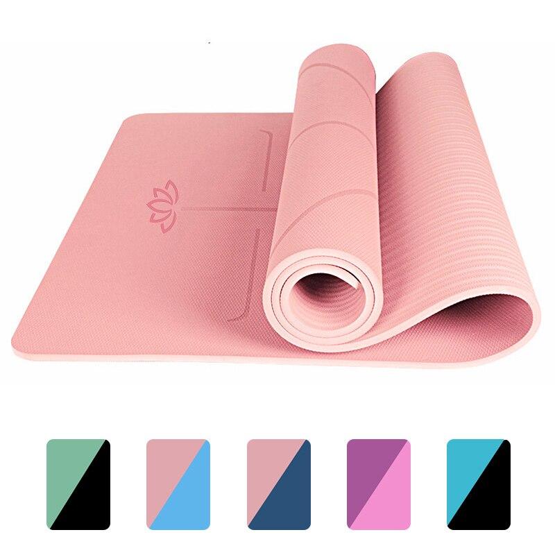 Thảm tập yoga , Thảm tập thể dục Thái lan , thảm tập gym 8 mm Thảm chống trượt bảo vệ môi trường chống trượt và dày cho người mới bắt đầu