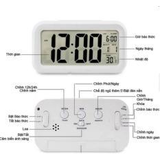 (Rẻ mà chất) Đồng Hồ Báo Thức Điện Tử Để Bàn Màn Hình LCD Đa Chức Năng: Thời Gian, Lịch, Báo Thức, Nhiệt Độ – ADP208