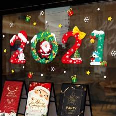 Decal trang trí Noel – 2021 ngũ sắc chào lễ giáng sinh