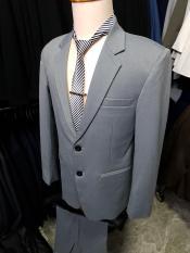 Bộ vest nam 2 nút trung niên tông xám ghi + cà vạt kẹp