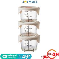 Bộ 3 hộp thủy tinh đựng thức ăn cho bé Lock&Lock có vạch chia 230ml x 3 hộp LLG508S3 – Hàng Chính Hãng – JoyMall