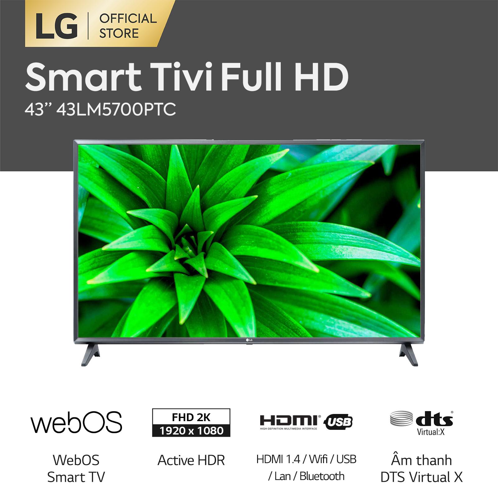 [FREESHIP 500K TOÀN QUỐC] Smart Tivi LG 43 inch FHD 43LM5700PTC + Magic Remote – Hãng phân phối chính thức