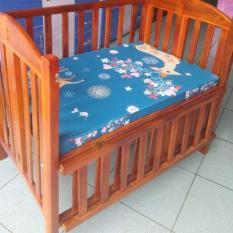 Cũi gỗ Xoan sơn màu cánh gián KT 70×110