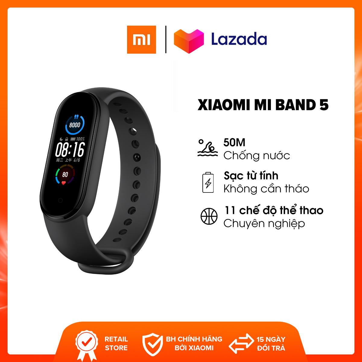 Vòng đeo tay thông minh Xiaomi Mi Band 5 BHR4215GL l AMOLED 1.2 inches (126 x 294 pixels) l 11...