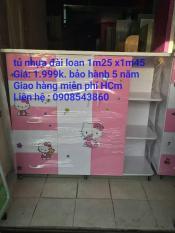 Tủ nhựa trẻ em màu hồng cho bé gái