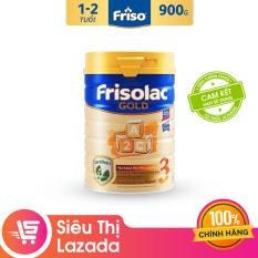 Sữa Bột Friso Gold 3 900g cho trẻ từ 1-2 tuổi – Cam kết HSD ít nhất 10 tháng – Tốt cho tiêu hóa & đề kháng tốt, giúp bé khỏe mạnh từ bên trong, thỏa sức khám phá để phát triển toàn diện