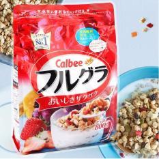 [HSD 05-2021] Ngũ cốc trái cây Calbee màu đỏ gói 800g cho người giảm cân và ăn kiêng – Nhật Bản
