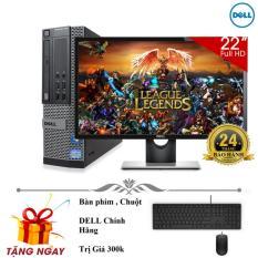 Bộ máy tính để bàn Dell Optiplex 9010 Core i5 3470, Ram 4gb, HDD 500gb Và Màn hình máy tính Dell 22 inch. Chuyên dùng tin học văn phòng, vẽ đồ họa, chơi game, chạy bền bỉ 24/24.Quà tặng bàn phím, chuột DELL, usb wifi. Bảo hành 2 năm.Hàng Nhập Khẩu