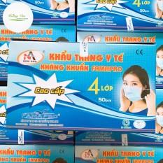 [Hộp 50 cái] khẩu trang y tế kháng khuẩn 4 lớp cao cấp FamaPro